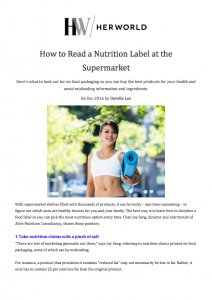 How to Read Nutrition Labels at the Supermarket
