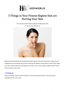 3 Things in Your Fitness Regime that are Hurting Your Skin