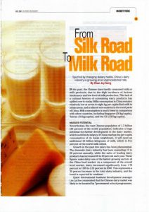 From Silk Road to Milk Road