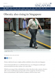 Obesity Rising in Singapore